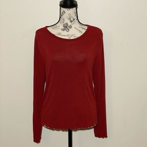 Mudd Long Sleeve Tee Red Size XL